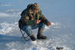 Man on winter fishing 22