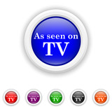As seen on TV icon - six colours set vector