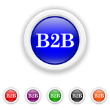 B2B icon - six colours set vector