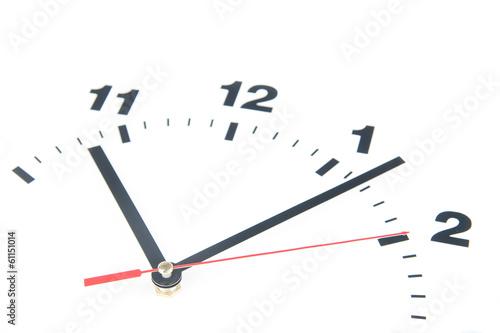 Leinwandbild Motiv Dial of the clock isolated on white background