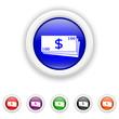 Money icon - six colours set vector