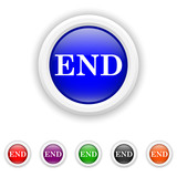 End icon - six colours set vector
