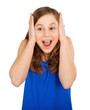 canvas print picture - surprised girl