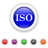 ISO icon - six colours set vector