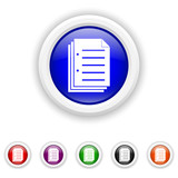 Document icon - six colours set vector