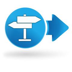 faire un choix sur symbole web bleu
