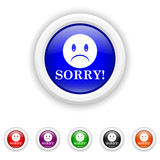 Sorry icon - six colours set vector