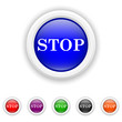 Stop icon - six colours set vector