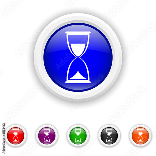 Hourglass icon - six colours set vector