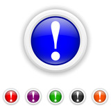 Attention icon - six colours set vector