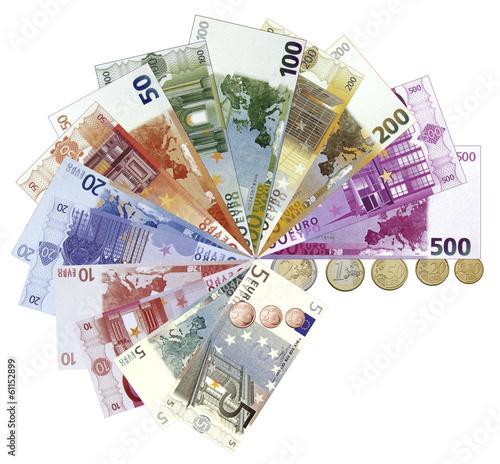 euro, monnaie européenne, billets et pièces