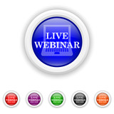 Live webinar icon - six colours set vector