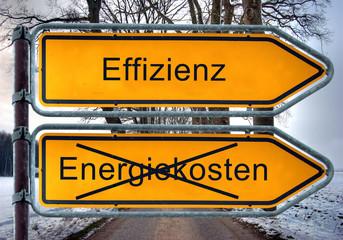 Strassenschild 5 - Effizienz