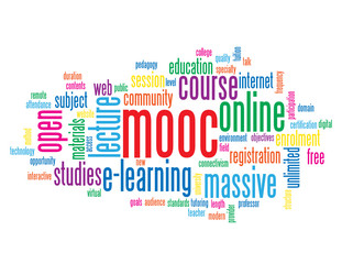 MOOC Tag Cloud (massive online open course e-learning training)