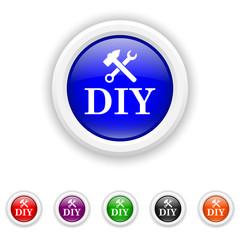 DIY icon - six colours set vector