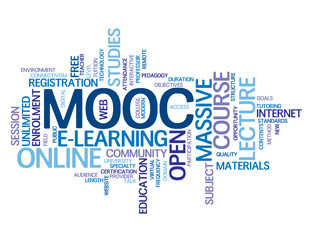 """MOOC"" Tag Cloud (massive online open course e-learning web)"