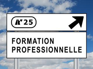 """Panneau """"FORMATION PROFESSIONNELLE"""" (études diplômes continue)"""