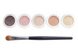 Makeup and brush isolated - 61154072