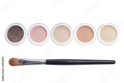 Makeup and brush isolated