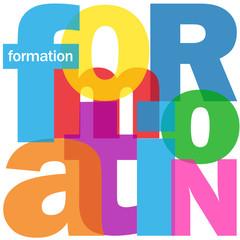 """Mosaïque de Lettres """"FORMATION"""" (études diplômes emploi travail)"""