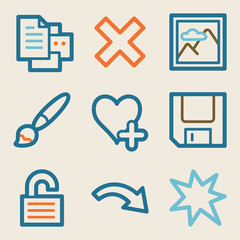 Image viewer web icons, vintage series