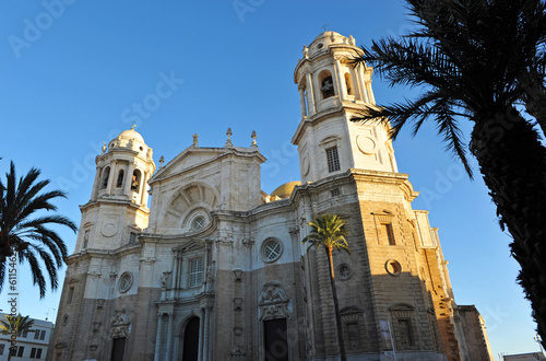 Baroque cathedral in Cádiz, Andalucia, Spain
