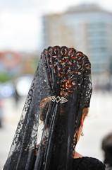 Mujer española con mantilla, Semana Santa, España