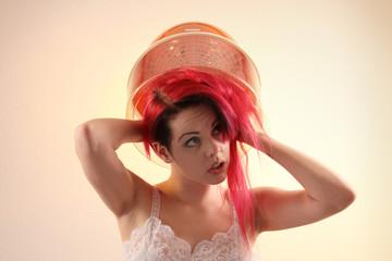 Haare frisieren