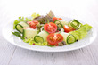vegetable salad with cucumber