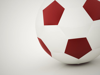 Football ball red