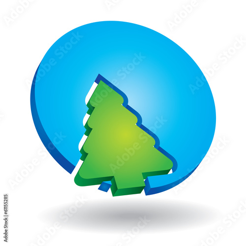icon with pine tree