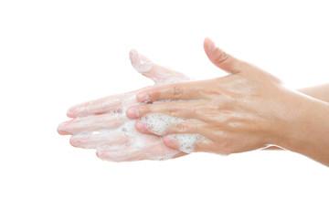 Wash female hands
