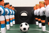Tabletop soccer, start of play