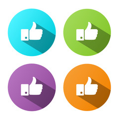 """""""THUMBS UP"""" Buttons (like recommend comment social media icons)"""