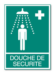 Panneau douche de sécurité.