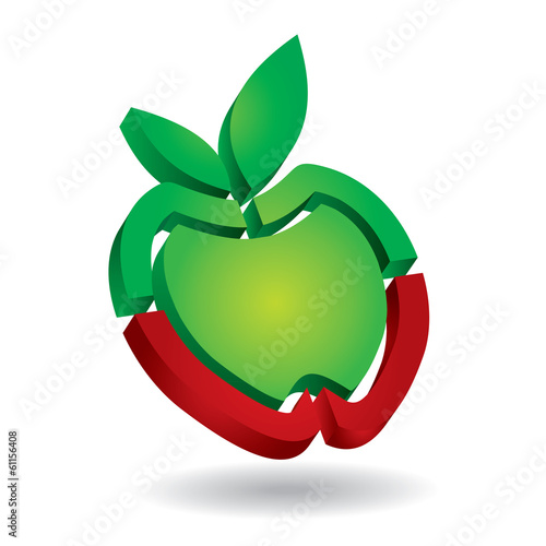 Apple – abstract icon template