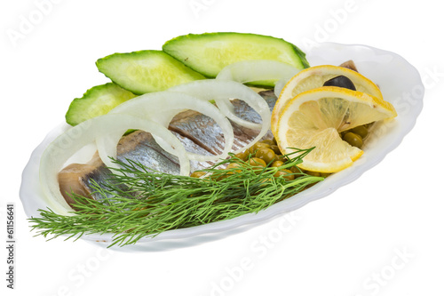 Herring with dill and onion