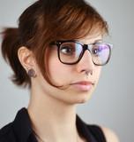 young female Nerd Portrait