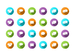 SPEECH BUBBLES (balloons word dialogue buttons icons symbols)
