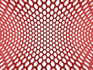 Red hexagonal background