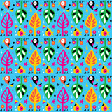 cute birds in the trees nature pattern - 61157872