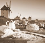 Bakery and windmills.
