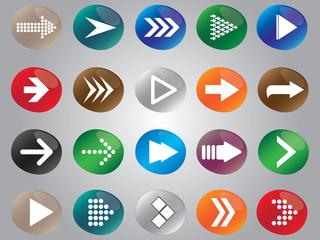 Arrow icon set illustrated on white