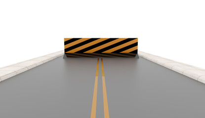 Road with road barrier rendered