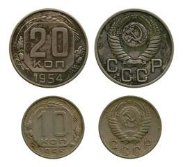 kopecks, USSR, 1954-1955