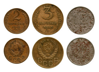 kopecks, USSR, 1940-1946