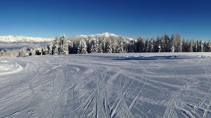 bivio su pista da sci