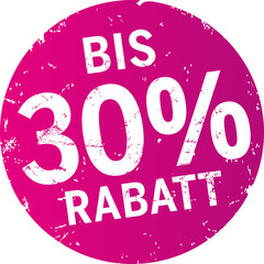 Sticker 30% Rabatt violett