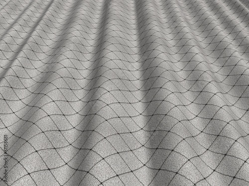 Pleated gray tissue
