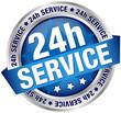 "Button Banner ""24h Service"" blau/silber"